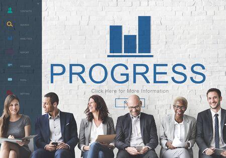 summary: Progress Result Summary Chart Concept Stock Photo