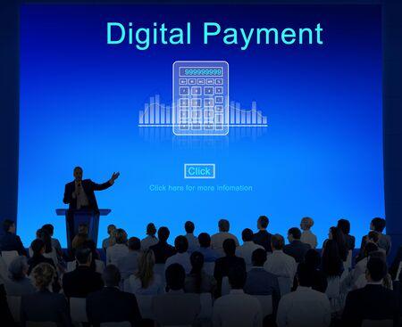 consumerism: Digital payment Consumerism Merchadise Card Concept