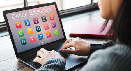 self study: E-learning Online Education Application Concept