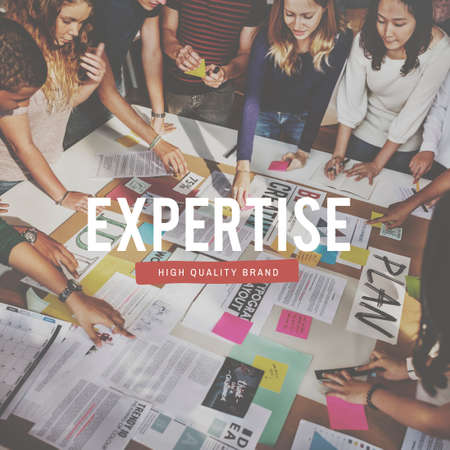 expertise concept: Expertise Intelligent Occupation Knowledge People Graphic Concept