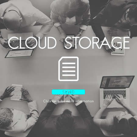 digital memory: Big Data Storage Memory Cloud Database Digital Concept Stock Photo