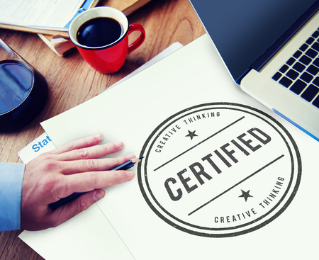attest: Certified Guarantee Warranty Verify Stamp Word Concept