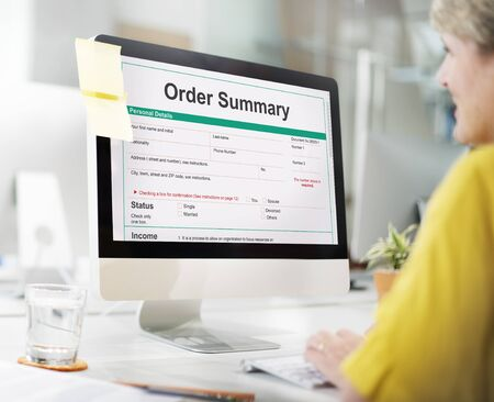 summary: Order Summary Payslip Purchase Order Form Concept