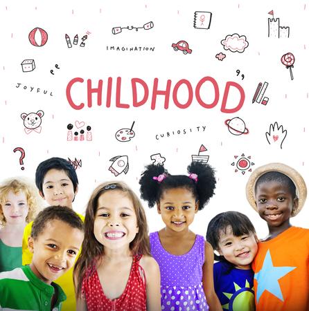 conept: Imagine Kids Freedom Education Icon Conept Stock Photo