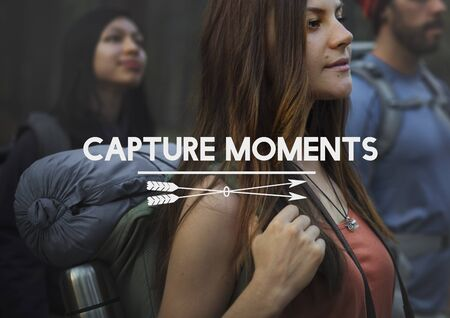 the moments: Capture Moments Memories Collection Concept Stock Photo