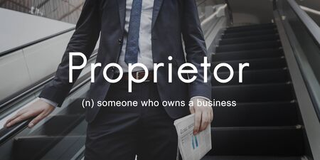 founder: Proprietor Business Owner Founder Chairman Management Concept