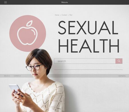 sexual health: Sexual Health Woman Awareness Concept Stock Photo