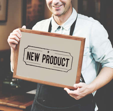 new product: New Product Promotion Sign Concept