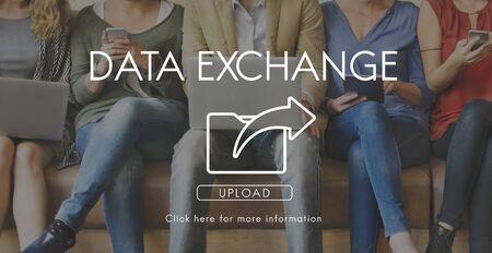 Transferencia de datos de sincronización Sharing Subir el concepto de intercambio