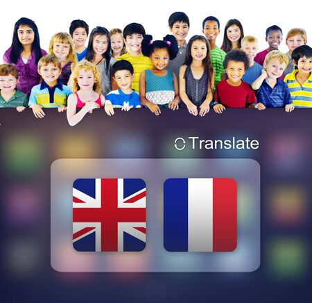 customs official: Flag Countries Foreign Word Translation Concept Stock Photo