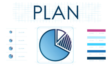 Pie chart with planning concept