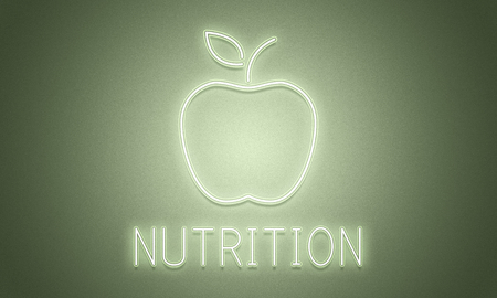 An apple with nutrition concept Stok Fotoğraf