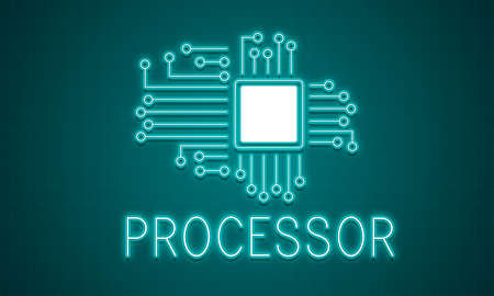 word processors: Technology Circuit Processor Innovation Network Concept