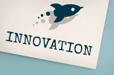 be the identity: Innovation development Rocket Graphic Concept