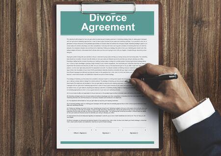 decree: Divorce Agreement Decree Document Break up Concept Stock Photo