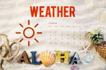 do: Summer Calendar Schedule Fun Happiness Concept