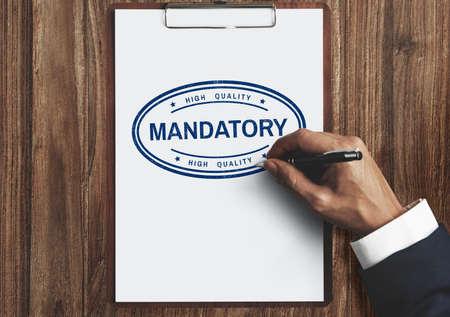 indispensable: Mandatory Necessary Imperative Requisite Concept Stock Photo