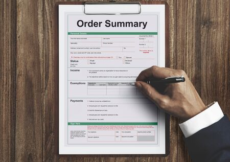 cuadro sinoptico: Order Summary Payslip Purchase Order Form Concept