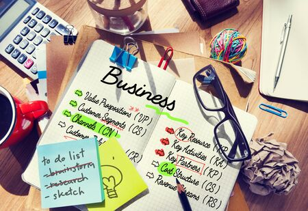business ideas: Business Ideas Plan Strategy Concept Stock Photo