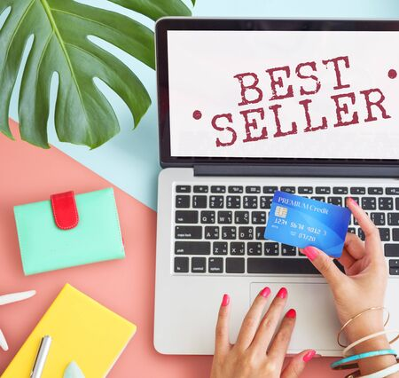 seller: Best Seller Buying Sale Shopping Business Graphic Concept