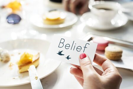 Belief Faith Hope Love Concept Stock Photo