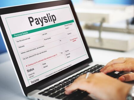 purchase: Payslip Purchase Order Form Concept Stock Photo