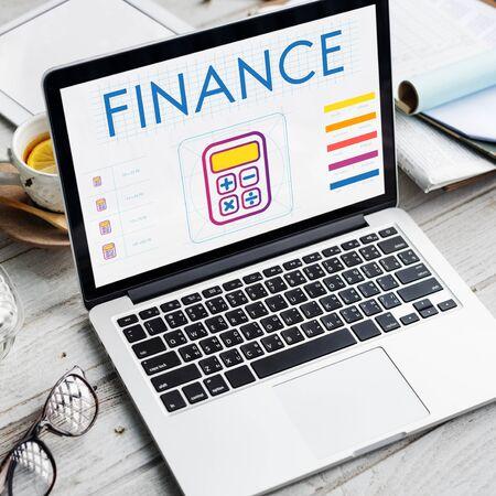 Finance Accounting Calcualtor Calculation Graphic Concept