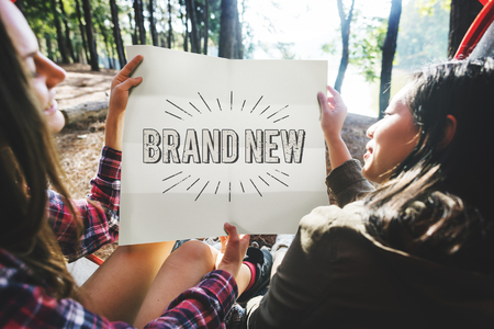 the latest: Brand New Release  Latest Update Concept Stock Photo