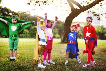 Superheroes Team Confidence Aspiration Concept