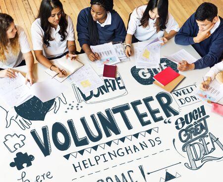 Students Community Service Volunteer Concept Reklamní fotografie