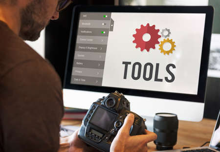 configuration: Tools Settings Configuration Setup Concept Stock Photo