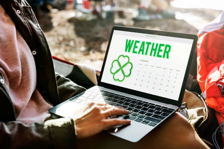 planner: Spring Break Weather Planner Concept Stock Photo