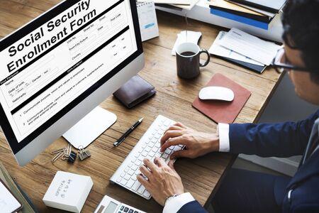 seguridad social: Formulario de inscripción de la Seguridad Social Concepto de documento