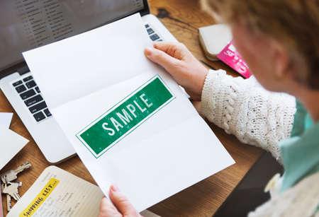 choosing: Sample Option Test Choosing Data Meterial Concept