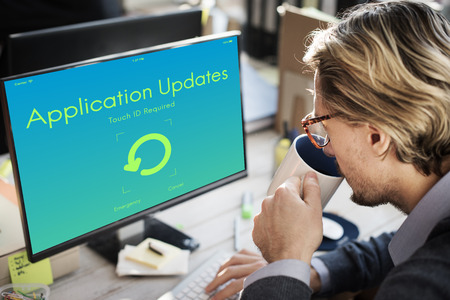 version: Application Updates Upgrade New Version Concept