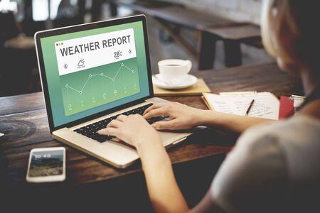 meteorology: Weather Report Data Meteorology Concept Stock Photo