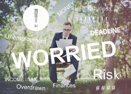 environmentalist tag: Worried Stress Problem Exam Job Concept Stock Photo