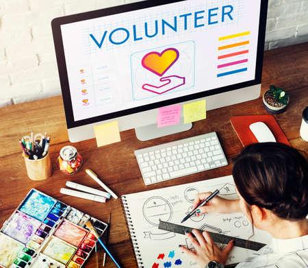 trabajo social: Community Share Charity Donation Concept