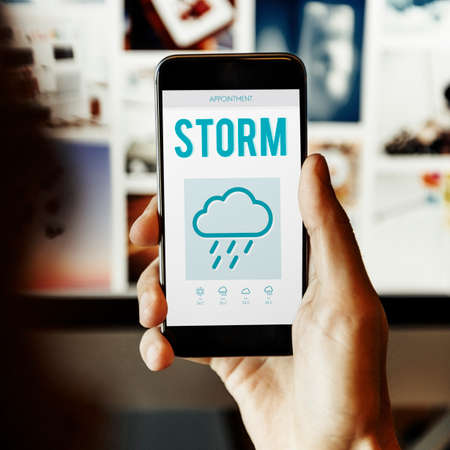 foresee: Storm Forecast Weather Rainy Cloud Concept Stock Photo