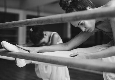 innocent: Ballerina Ballet Dance Practice Innocent Concept