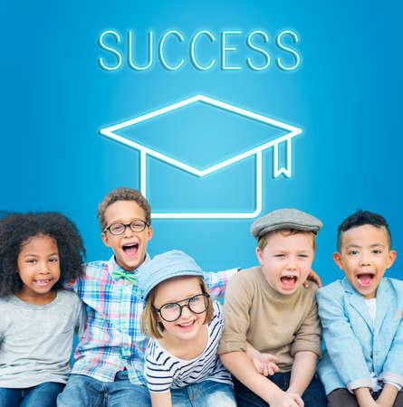 mortar board: Mortar Board Education Success Icon Concept