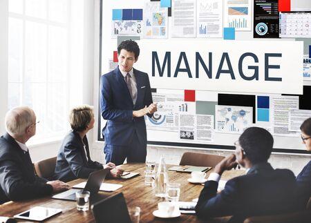 coordinacion: Manage Coordination Leadership Process Strategy Concept