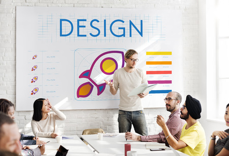 Man presenting a design planning