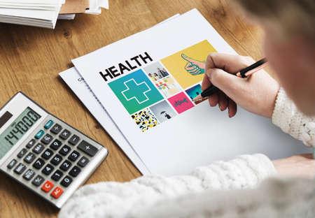 workplace wellness: Paper Healthcare Wellness Senior Adult Concept