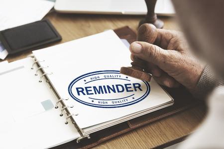 appointing: Reminder Memo Agenda Schedule Arrangement Concept
