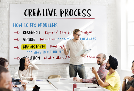 incubation: Creative Process Innovation Brainstorm Plan Concept Stock Photo