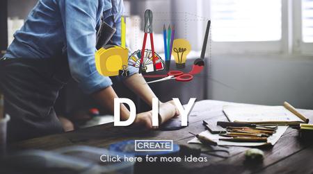 Handmade Do It Yourself Equipment Concept Reklamní fotografie