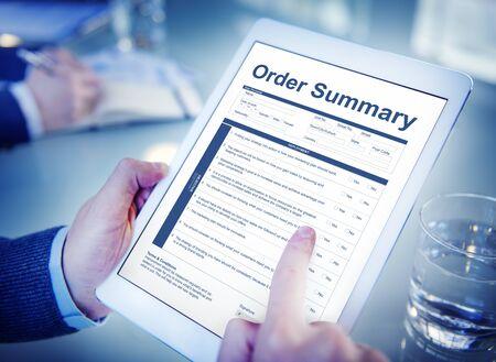 Bestel Samenvatting Document Form Factuur Concept