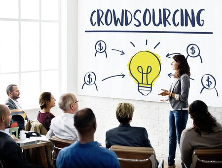 crowdsource: Crowdsourcing Collaboration Content Information Concept
