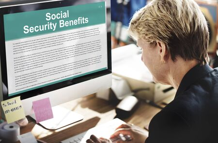 social security: Social Security Benefits Agreement Concept